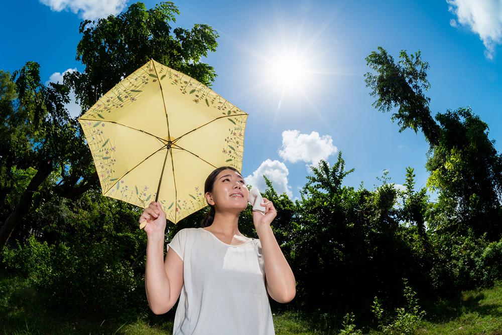 紫外線対策 帽子 日傘 効果